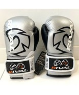 Rival Boxing Bag Gloves RB7 Fitness Hook And Loop New Silver Black Size ... - £25.22 GBP