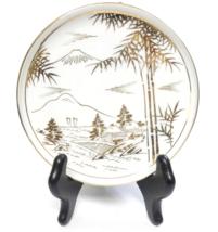 Vintage Soko China HSK Japan Hand Painted Gold Mt Fuji Scene Pedestal Sa... - $5.00