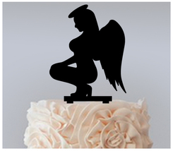 Wedding,Birthday Cake topper,Cupcake topper,silhouette sexy Angels : 11 pcs - $20.00