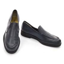 Men LOAFERS Leather Slip France On Sole 11 J FENESTRIER Shoes M Crepe Blue 8wRqnf