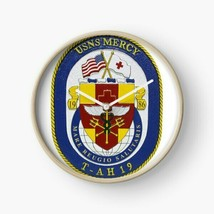 US Navy USNS USS Mercy T-AH-19  Wall Clock - $69.29