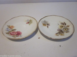 VINTAGE SET OF 2 ROSINA CHINA QUEENS CHINA FLORAL DESIGN SAUCERS - $9.99