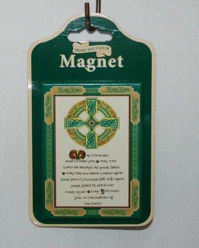 Allied 40519 Irish Souvenir Magnet Blessing Poem May The Road Rise To Meet You