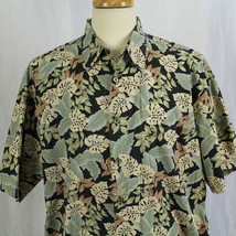Cooke Street Honolulu Aloha Hawaiian Short Sleeve Cotton Leaf Shirt Sz X... - $23.38