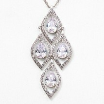 Carolee Silver-Tone Crystal Stone Pendant Necklace $125 - $55.93