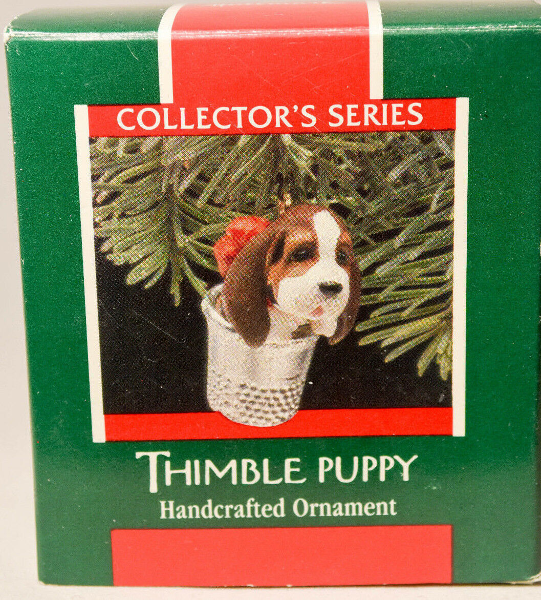 Primary image for Hallmark - Thimble Puppy - 12th in Series - Keepsake Classic Ornament
