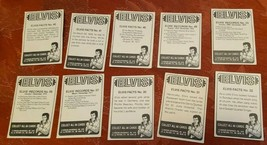 ELVIS TRADING CARDS FACTS NO.  30  31  32  40  41  46  49  55  56  57 image 2