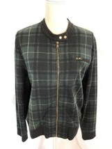 Ralph Lauren Green Plaid Jacket Size XL Zip Up Long Sleeve $125 - $34.99