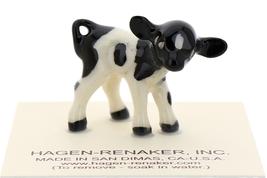 Hagen-Renaker Miniature Ceramic Cow Figurine Holstein Bull Cow and Calf Set image 3