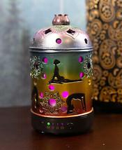 Rainbow 7 Chakra Colors Lotus Mandala Yoga Essential Oil Diffuser Aromat... - $49.99