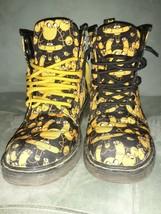 DOC Dr Martens Adventure Time Jake Delaney Boots -Yellow/Black -SZ 4 M 5 L - $60.39