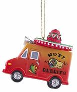 Gnz Super Cute Hot! Burrito Taco Truck w/Sombrero Christmas/Everyday Orn... - $12.62