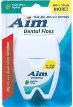 Aim Mint Waxed Floss - 120 Yards 12 pcs sku# 1187634MA - $40.05