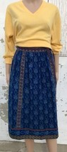 70s Skirt Wrap Around Style Maxi Length 1970s Reversible Vintage Clothing - $48.70