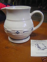 "Magnicent LONGABERGER  Classic Blue Pitcher   5.5""....  Made in USA........ - $16.83"