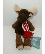 Scentsy Buddy Magnus the Moose Plush Brown w/ red striped scarf LUNA sce... - $24.74