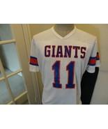 Vtg 80's White Rawlings New York Giants #11 Phil Simms Screen NFL Jersey... - $59.35