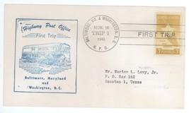 First Trip Highway Post Office 1948 Baltimore -Washington DC Trip 1 HPO ... - $2.99