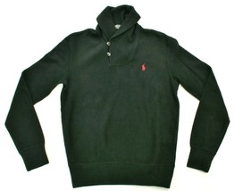 Ralph Lauren Mens Jumper Shawl Neck Ribbed Black Size XS Extra Small RRP... - $94.34