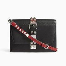 Prada Elektra City Calf Saffiano Leather Black and Red Crossbody - $3,200.00
