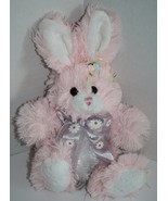 "Hobby Lobby Stuffed Animal EASTER BUNNY RABBIT 8"" Soft Toy Pink White Pl... - $19.32"