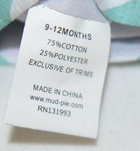MudPie Giraffe Shortall Turquoise Lime Green Jumper 9 to 12 Months image 10