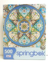 Springbok Timeless Turquoise 500 Pc Cross Stitched Floral Fun Mental Gif... - $29.69