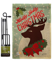 Holly Jolly Christmas Burlap - Impressions Decorative Metal Garden Pole ... - $33.97