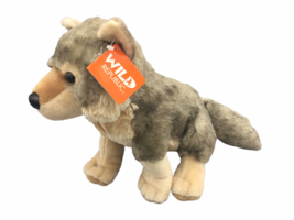 "Wild Republic Nashville Zoo 12"" Cuddlekins Wolf Plush Toy - $19.46"
