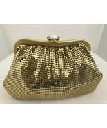 WHITING & DAVIS Gold Metal Mesh Clutch w/ Chain Strap Evening/Shoulder Bag  - $117.71