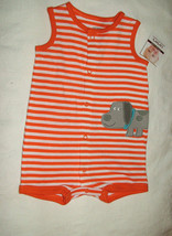 Carter's Baby Boy  Striped Romper/Sunsuit, Sz.6 Months, NWT - $7.91