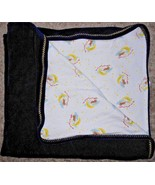 Mary Engelbreit Baby Blanket Navy Blue Cow Jumped Over the Moon Nursery ... - $19.78