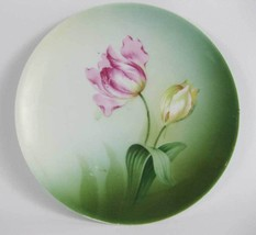 Vintage Reinhold Schlegelmilch RS Germany Hand Painted Plate Tulips - $5.00