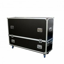 "DUAL 55""- 65"" Universal LCD LED TV ATA Flight Case W/4X4"" Casters - $799.99"