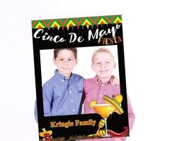 Cinco De Mayo Fiesta Family Photo Frame Custom Family Photo Prop USA - $15.83+