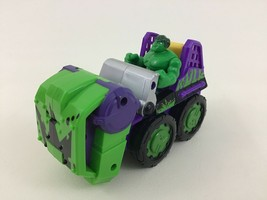 The Incredible Hulk Smash-Mobile Toy Figure Punching Vehicle Marvel Hasb... - $14.80