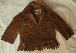 K-Bar-Z Ranchwear by Pyramid suede jacket fringe trim, unisex vintage - $25.73