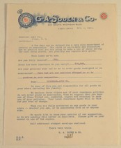 Antique Old 1916 Letter Paper G.A Soden & Co. Wholesale Jewelry Chicago US - $6.24
