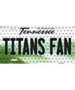 Titans Tennessee State Background Metal License Plate Tag (Titans Fan) - $11.95