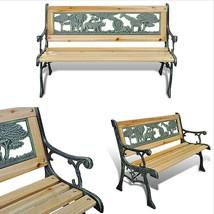 Kids Garden Bench 80x24 Home Patio Park Decorative Furniture Outdoor Iro... - $49.72