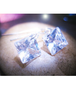 Haunted FREEBIE RICHES TO COME MAGICK 925 CRYSTAL EARRINGS WITCH CASSAI4 - $0.00