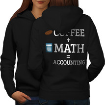 Coffee and Math Sweatshirt Hoody Accounting Women Hoodie Back - $21.99+
