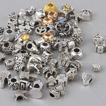 Charms Random Mixed Vintage European Fits Pandora Bracelets Bangles 50pc... - $31.99