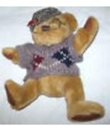 SHERWOOD PLUSH PICKFORD BEAR BRASS BUTTON TEDDY COLLECTION U.S.A - $10.74