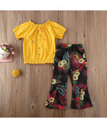 Toddler Baby Girls Kids Clothes Sets Floral Print Tops Pants Outfit 2PCS... - $21.99
