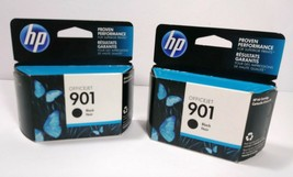 Hp 901 Black Ink Cartridge ( Lot Of 2 ) New Sealed! Exp: May 2013 Office Jet Nos - $18.69