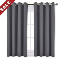 NICETOWN Blackout Curtains Panels for Bedroom - Window Treatment Thermal... - $19.51