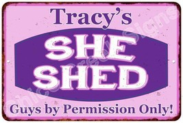 Tracy's Purple & Pink SHE SHED Vintage Sign 8x12 Woman Wall Décor A81200119 - $16.95+