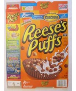 Empty GENERAL MILLS Cereal Box 2002 REESE'S PUFFS 14.25 oz - $5.58