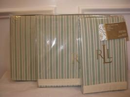 Ralph Lauren COLE BROOK Stripe Queen Flat sheet NWT - $66.45